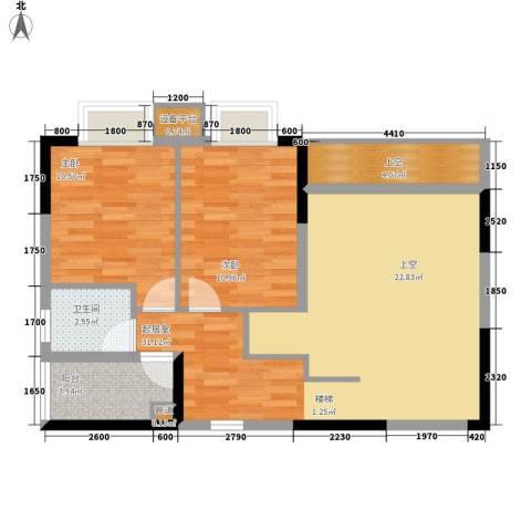 橡墅2室0厅1卫0厨131.00㎡户型图