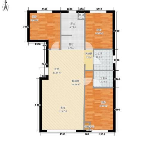 博奥国际3室0厅2卫0厨120.00㎡户型图