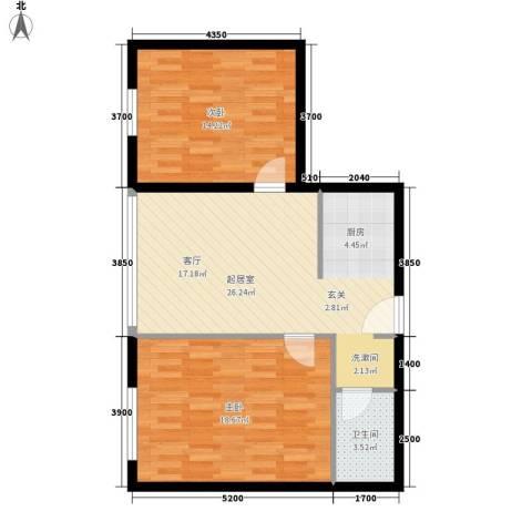 博奥国际2室0厅1卫0厨87.00㎡户型图