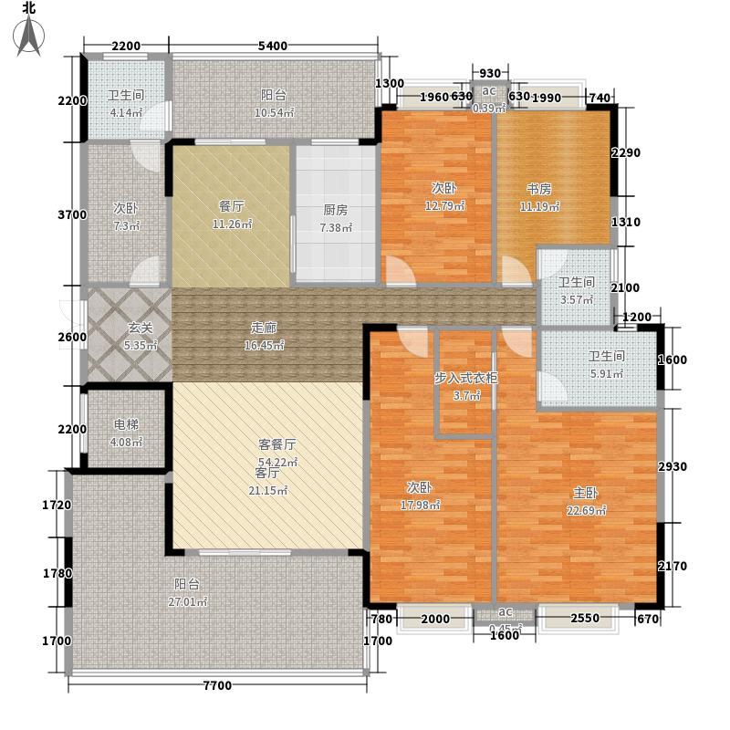 凯怡茗苑210.59㎡D02户型4室2厅