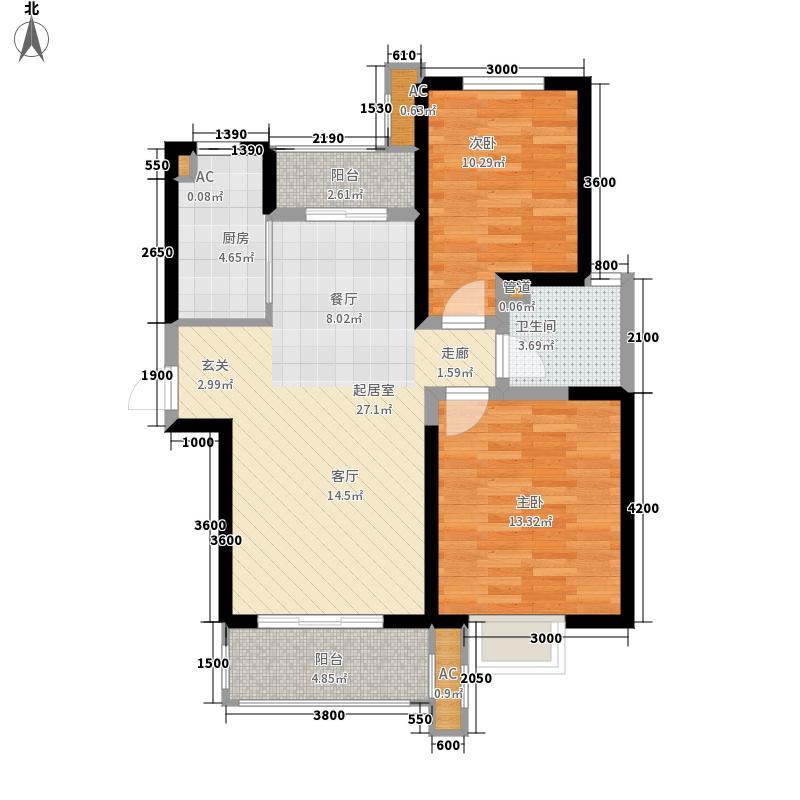 铭城国际社区98.56㎡1、2号楼D户型2室2厅