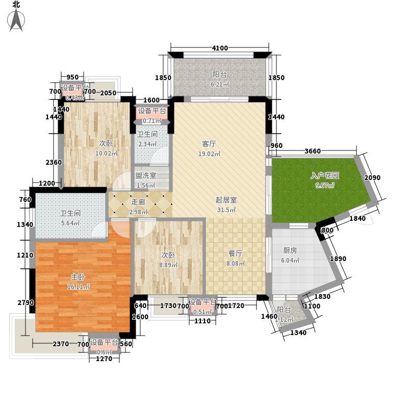 龙光阳光海岸120.00㎡山海湖湖海高层D2栋2A户型3室2厅