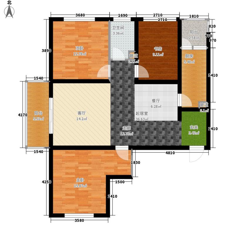南海.公元时代城132.25㎡南海公元时代城待售户型3室2厅