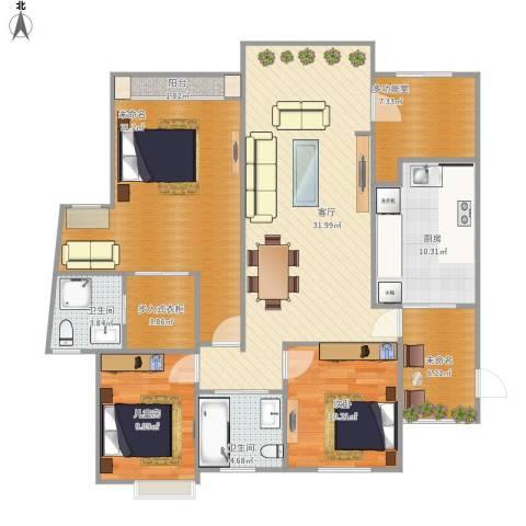 爱加丽都(一期)2室1厅2卫1厨148.00㎡户型图