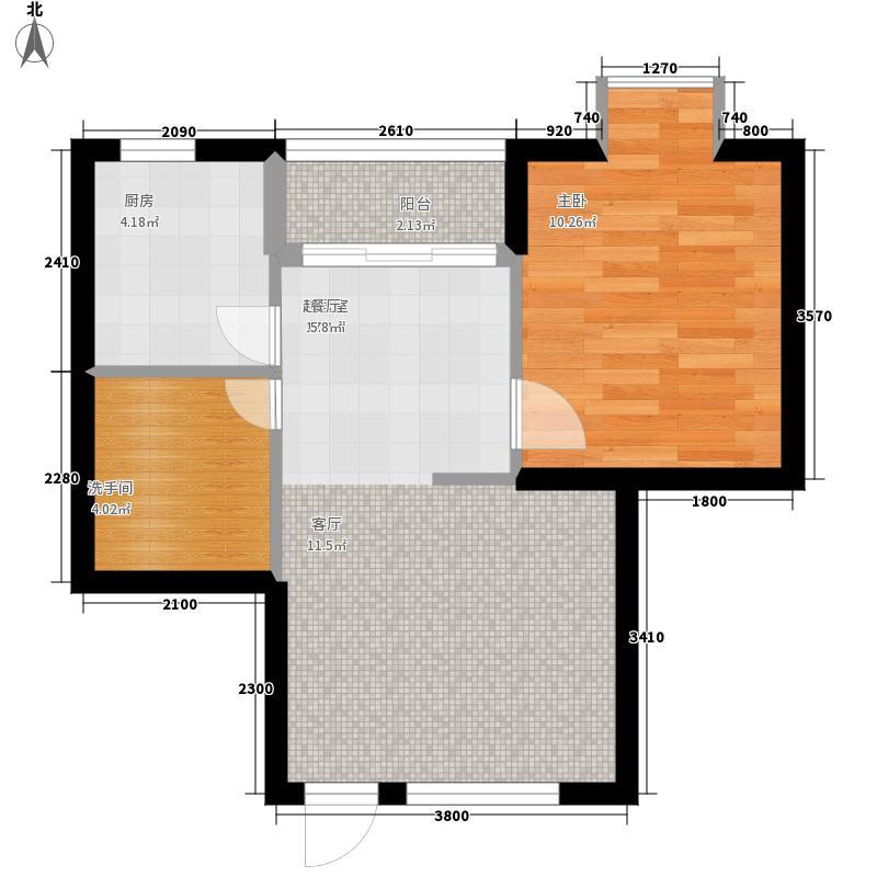 山海湾温泉家园六期51.62㎡山海湾温泉家园一期3#、4#楼D户型1室2厅