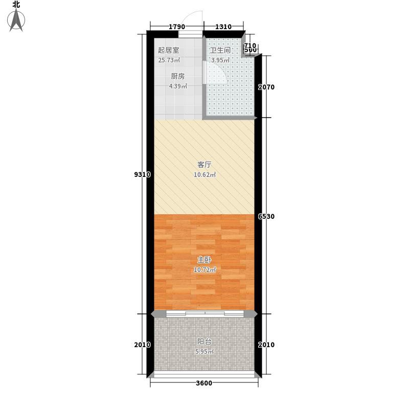 山海湾温泉家园六期46.58㎡山海湾温泉家园B栋、D栋B2户型1室