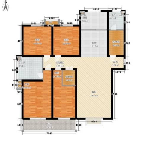 丽都河畔4室0厅2卫1厨231.00㎡户型图