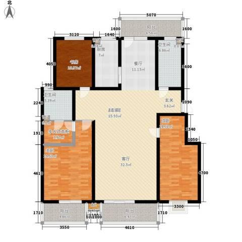 丽都河畔3室0厅2卫1厨219.00㎡户型图