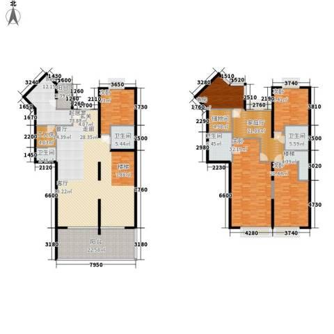 国美第一城5室0厅4卫1厨278.00㎡户型图