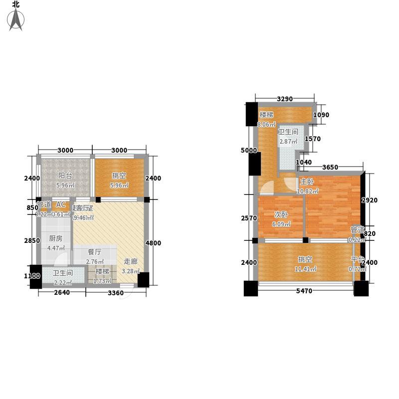金地国际花园72.00㎡一期1号楼标面积7200m户型