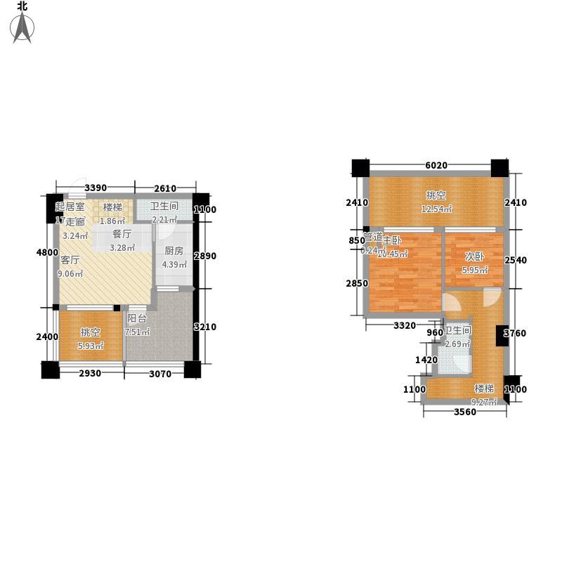 金地国际花园72.00㎡一期3号楼标面积7200m户型