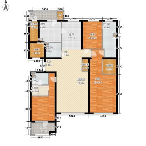 天润福熙大道3室0厅3卫1厨228.00㎡户型图