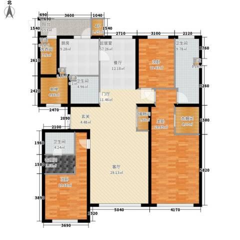 天润福熙大道3室0厅3卫1厨219.00㎡户型图