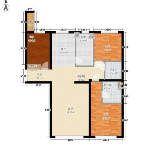天润福熙大道3室0厅2卫1厨140.00㎡户型图