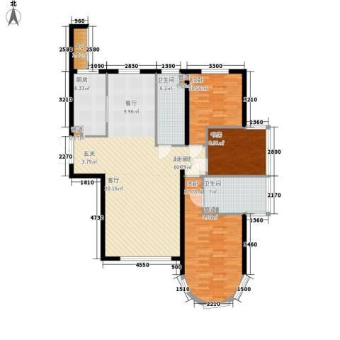 天润福熙大道3室0厅2卫1厨136.00㎡户型图