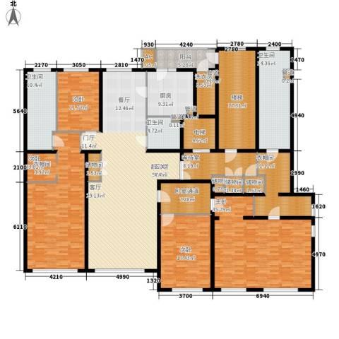 天润福熙大道4室0厅3卫1厨306.00㎡户型图