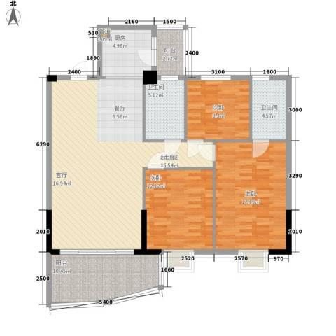 金泰瑞和园3室0厅2卫1厨127.00㎡户型图