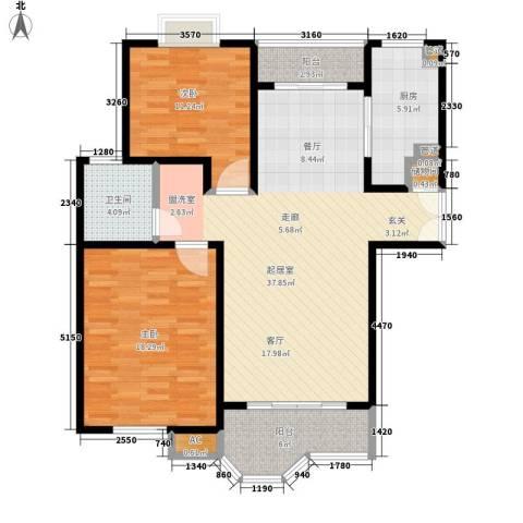合生城邦三街坊2室0厅1卫1厨99.00㎡户型图