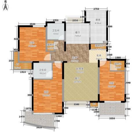 舒诗康庭3室0厅2卫1厨140.00㎡户型图