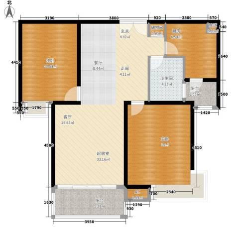 舒诗康庭2室0厅1卫1厨92.00㎡户型图