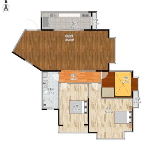 金盾未来花园3室1厅1卫1厨163.00㎡户型图