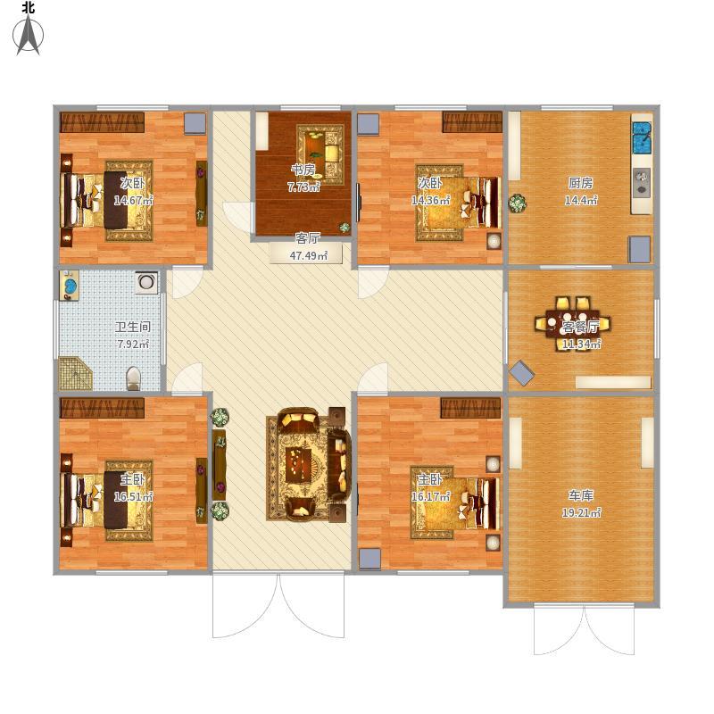 四室两厅一厨一卫