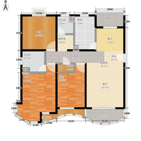 金桥一方3室0厅2卫1厨126.00㎡户型图