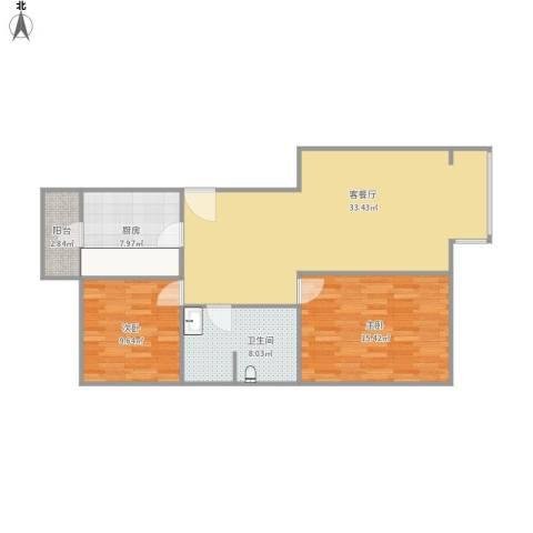 融域1342室1厅1卫1厨104.00㎡户型图