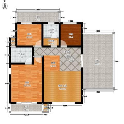 五矿龙湾国际社区3室0厅2卫0厨197.00㎡户型图