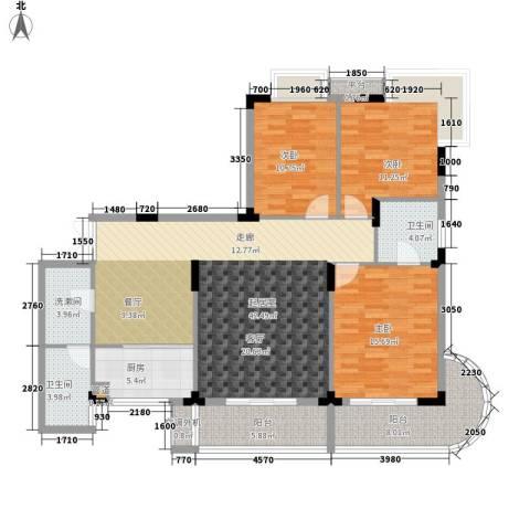 枫树园3室0厅2卫1厨125.00㎡户型图