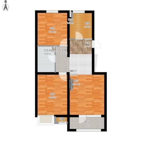 戴河水岸星城2室1厅1卫1厨95.00㎡户型图