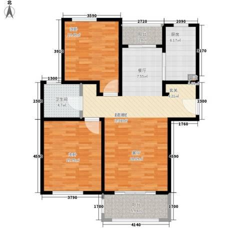 绿地崴廉公寓二期2室0厅1卫1厨97.00㎡户型图
