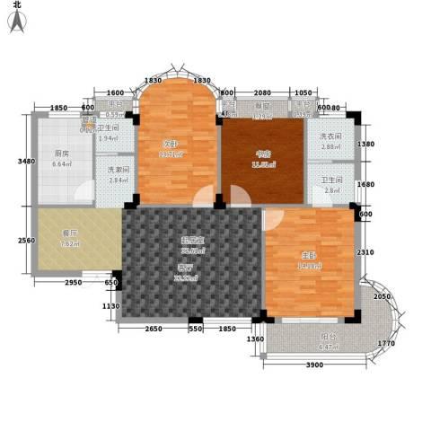 枫树园3室0厅2卫1厨115.00㎡户型图