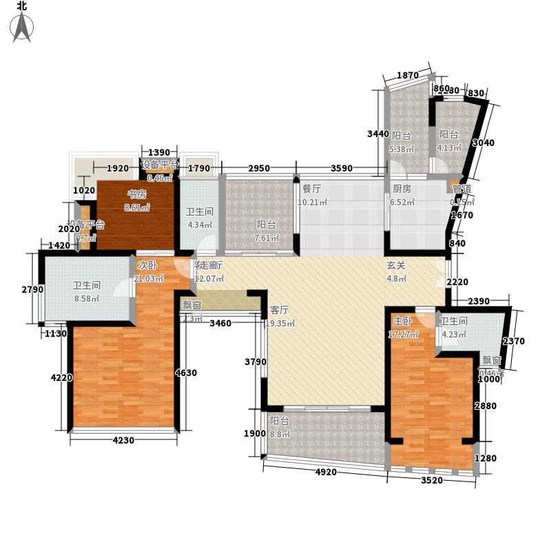 凤凰海域174.00㎡1栋02栋0户型3室2厅