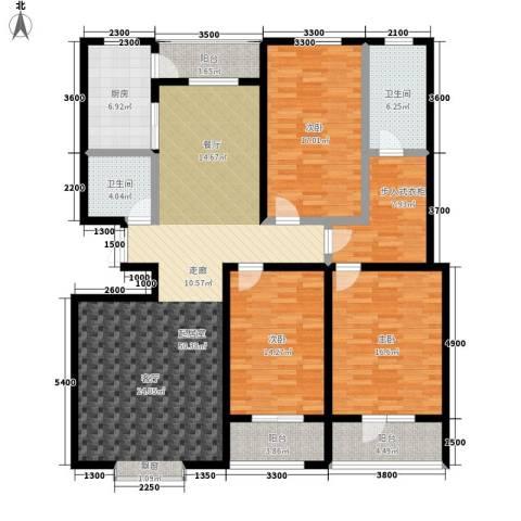港澳花园3室0厅2卫1厨135.40㎡户型图