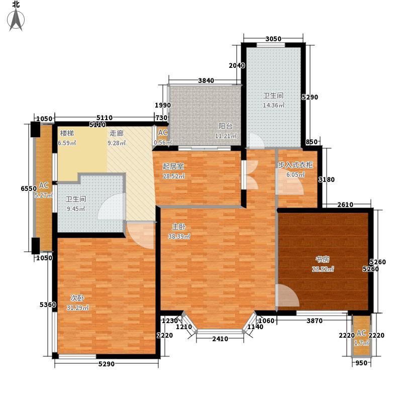 绿地崴廉公寓185.32㎡一期h5a面积18532m户型