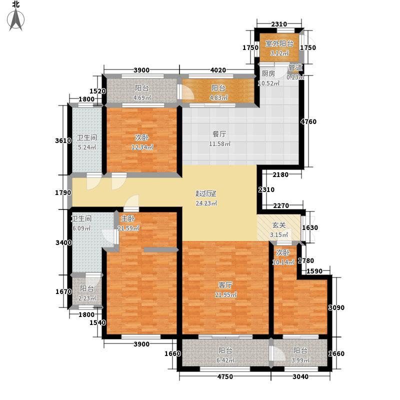 金色江湾G户型2室2厅