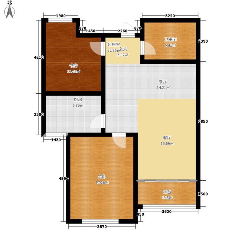西韩新苑二期90.00㎡B户型2室2厅