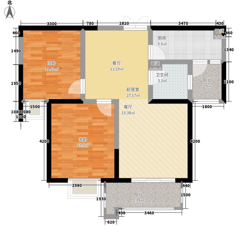 铭城国际社区98.28㎡7、8号楼B户型2室2厅