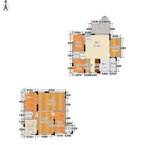 浩立半岛康城4室0厅3卫1厨214.00㎡户型图
