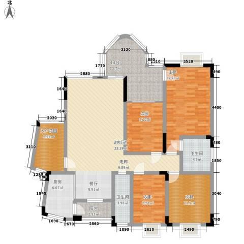 浩立半岛康城4室0厅2卫1厨216.00㎡户型图