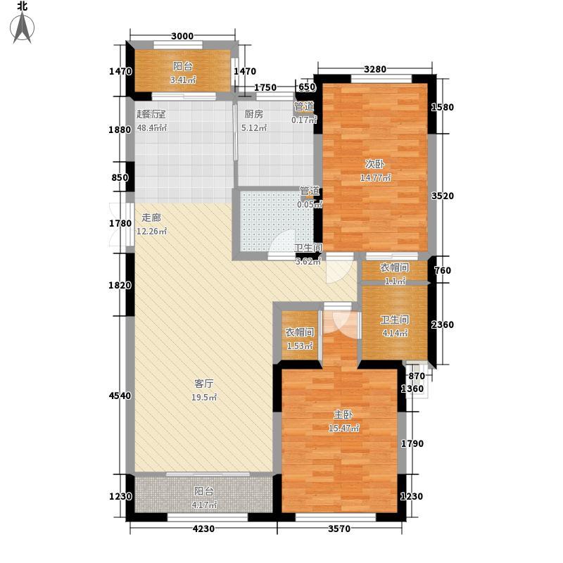 金色江湾L户型2室2厅