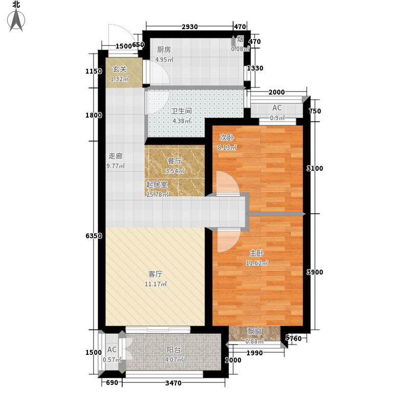 凯旋公馆89.00㎡A1户型2室2厅