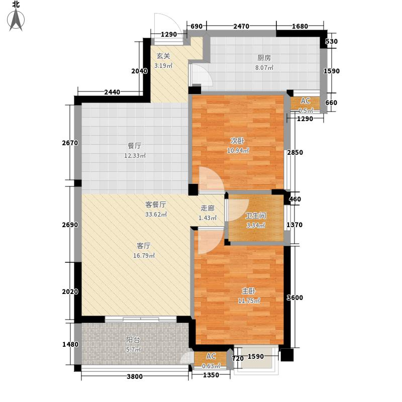 青枫林语84.00㎡户型2室2厅