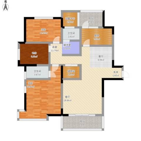 长江峰景3室1厅2卫1厨165.00㎡户型图