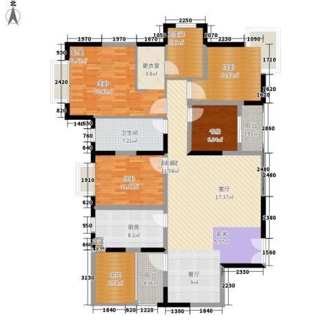 中海瀛台3室0厅2卫1厨146.00㎡户型图