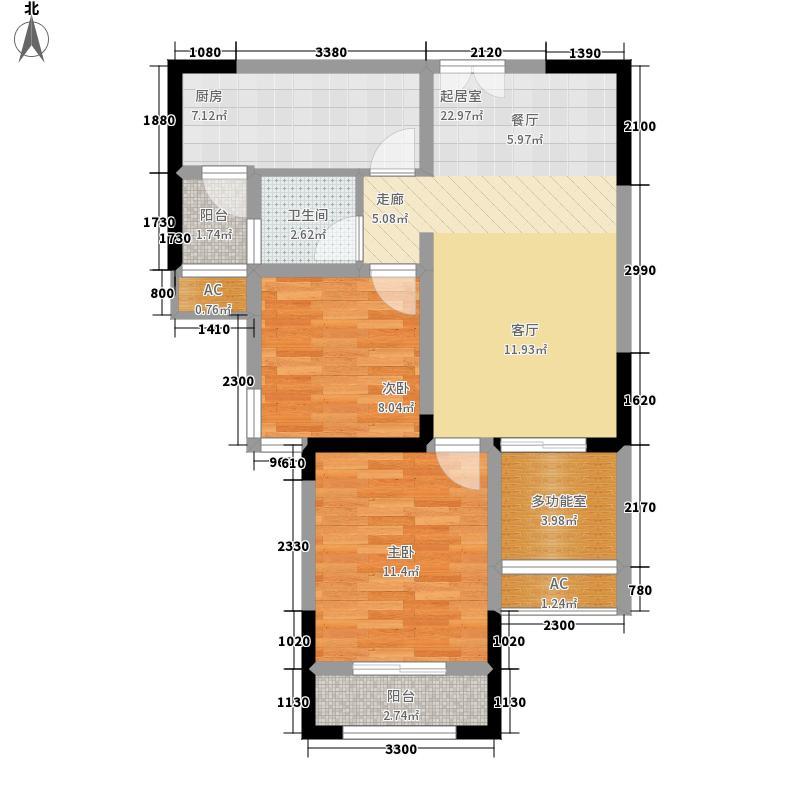 金源城78.23㎡HA-1户型2室2厅