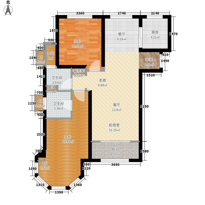 中南山海湾87.00㎡户型2室1厅