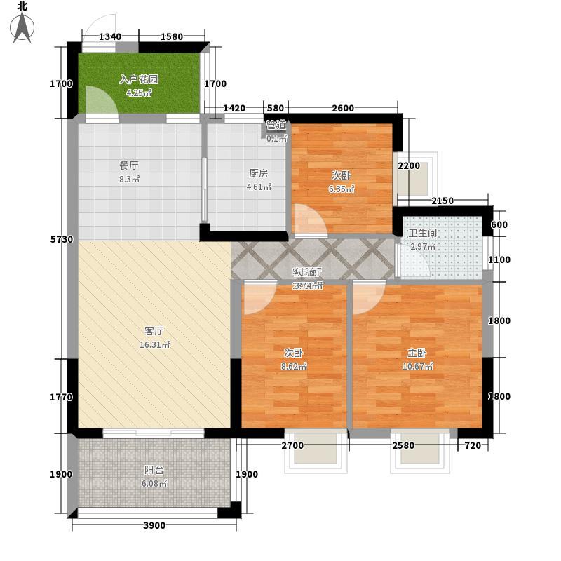 仁和馨园93.84㎡C型:3房2厅1卫户型