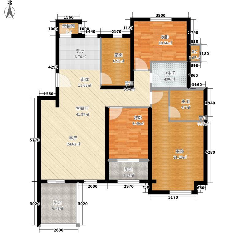建邦原香溪谷二层花园洋房B户型3室2厅